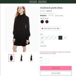 Kate Spade Mock neck Ponte dress